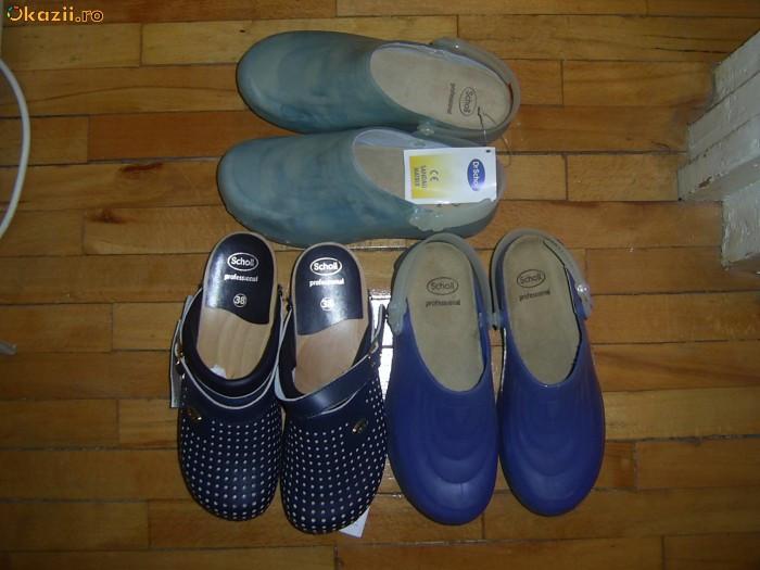 papuci sanitari(spital)SCHOLL nr 37-38 si 42 foto mare