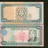 Bnk bn turkmenistan 1000 manat 2000 unc