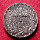 FRANZ JOSEPH 1848---1916 1 KORONA ARGINT 1915 KB - Moneda Medievala, Europa