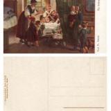 ILUSTRATA VECHE NR. 36 FEMEI CU COPII IN JURUL MESEI EIN LETZSTES LEBEWOHL **, Necirculata