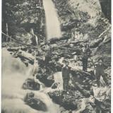 Carti Postale Romania pana la 1904 - CFL 1906 ilustrata Busteni cascada Urlatoarea grup turisti