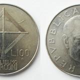 ITALIA 100 LIRE 1974, 8 g., Stainless Steel, 27.8 mm, Guglielmo Marconi XF **, Europa, An: 1974