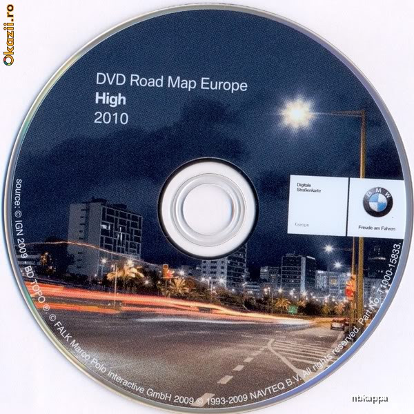 BMW Road Map Europe (2011).