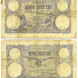 20 LEI 3 NOIEMBRIE 1921 STARE VF ROMANIA