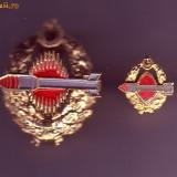 S26.SET INSIGNE RACHETISTI-MARINA MILITARA TURCA. - Insigna