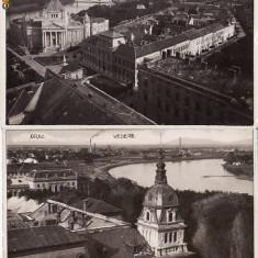Arad - vederi generale-2 cp - Carte Postala Transilvania dupa 1918, Circulata, Printata
