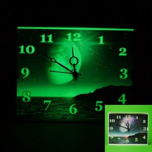 Ceas de perete super fosforescent glow care lumineaza in intuneric foto