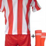 Set echipament fotbal - Echipamente de fotbal rosu-alb model 1 - copii