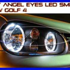 KIT INELE ANGEL EYE EYES CU LED SMD - VW GOLF 4 - CULOARE ALB XENON 6000K ZDM, Universal