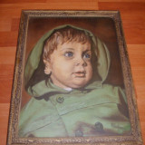 CHILIPIR - Portret copil- ulei pe panza - Pictor roman, Portrete, Realism