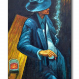 Tablou modern, tablou bar 90x60cm in ulei pe panza - NARCO (2) - REDUS IEFTIN