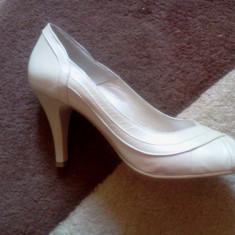 Pantofi dama, Marime: 39, Crem - Pantofi de mireasa