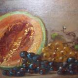 Arnold Gara(1882-1929), Natura statica cu fructe tablou in ulei pe panza semnat - Pictor roman, Realism