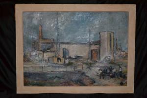DUMITRU LOGHIN - Pictura - Ulei pe panza - Santier 2 - 1964 - Profesorul lui Ion Grigore ! foto