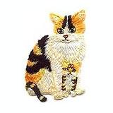 Emblema brodata adeziva - pisica