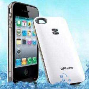 Transforma iPhone 4/4S in Dual SiM - Dual CPU -alb QYG 2Phone foto