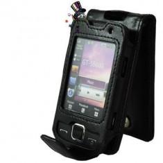 SAMSUNG S5600 PRESTON / S5600V BLADE HUSA DE PIELE NOUA NEAGRA ! - Husa Telefon