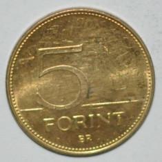 857 UNGARIA 5 FORINTI PLACAT CU AUR