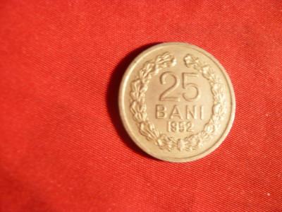 Moneda 25 Bani 1952 ,metal alb , cal.apr.NC foto