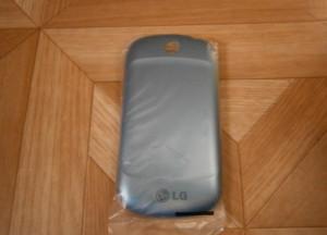 Capac baterie LG P350 original albastru - 15 lei foto