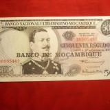 Bancnota 50 Escudos 1970 Mozambic, cal.NC