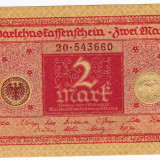 3.Germania bancnota 2 Mark 1920 UNC