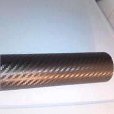 Folie carbon 3d de culoare maro la 152CM latime pe 50cm TEXTURA la pipait nu face bule