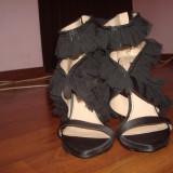 Pantofi dama Zara, Marime: 38, Negru - Pantofi zara