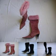 Cizme dama - Cizme ciocate femei dama Pinko piele 36