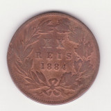 Moneda Portugalia - 20 Reis 1884, Europa