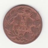 Moneda Portugalia - 10 Reis 1884, Europa