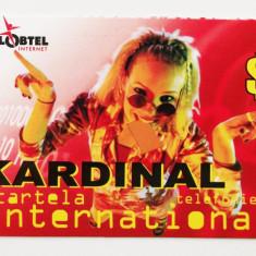 CARTELA ROMANIA KARDINAL GLOBTEL 3 $ - DE COLECTIE ** - Catela telefonica