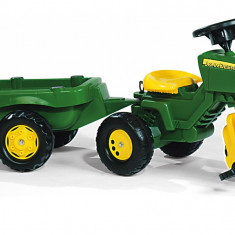 Tractor Cu Pedale Si Remorca Copii ROLLY TOYS 052769 Verde