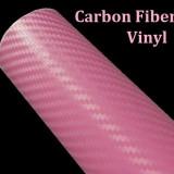 folie carbon 3d  de culoare roz