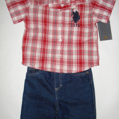 Haine Copii 1 - 3 ani - Set US Polo Assn Original - baieti 18 luni