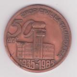 PLACHETA 50 ANI ZBOR CIVIL LA TIMISOARA - Medalii Romania