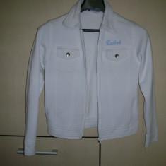 Bluza cu fermoar Reebok - Bluza dama Reebok, Marime: S, Culoare: Alb, Maneca lunga, Casual, Bumbac