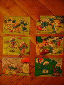 Set lot colectie 6 puzzle Kinder Surprise Smurfs Strumfii Strumpfii Strumfi ou surprize foto