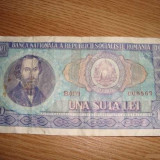 Bancnota de colectie 100 lei vechi 1966