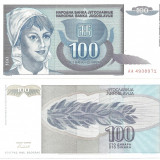 Bancnota Straine, Europa - IUGOSLAVIA- 100 DINARI 1992- UNC!!