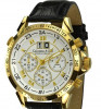 Model nou CALVANEO 1583 ASTONIA Chrono Gold nou in cutie lemn garantie internationala - IN STOC -