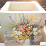 Ladita handmade Flori Decoupage
