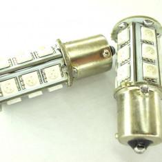 LEDuri tuning G-View - Leduri auto PY21W BA15S 18 SMD 5050 alb