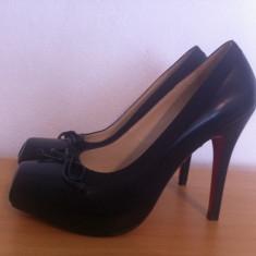 Pantofi Christian Louboutin replica - Pantof dama Christian Louboutin, Marime: 37, Culoare: Negru, Negru