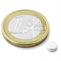 Magnet neodim disc, diametru 5 mm, putere 650 g