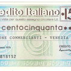 !!! ITALIA : MINI CEC IL CREDITO ITALIANO - 150 LIRE 1976 - UNC - Cambie si Cec