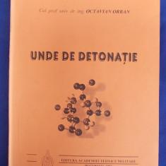 OCTAVIAN ORBAN - UNDE DE DETONATIE - ACADEMIA TEHNICA MILITARA - BUCURESTI - 2002 - AUTOGRAF SI DEDICATIE