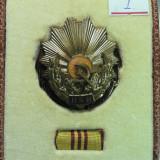 Medalii Romania - 1 - ORDINUL MUNCII CLASA A - III - A - CUTIE ORIGINALA
