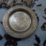 Metal/Fonta - Farfurie metal, cupru, zodiac
