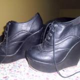 Platform negru superb, NOU, marimea 40, 45 RON - Pantofi dama, Marime: 40, Negru